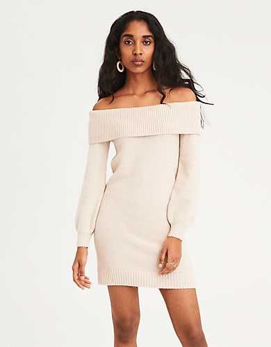 d1c5e252c7f AE Off-the-Shoulder Sweater Dress -