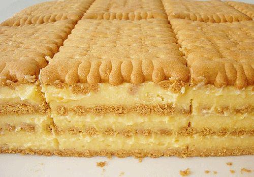 Prajitura cu biscuiti si crema de vanilie