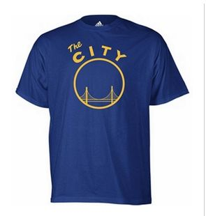 ADIDAS Golden State Warriors Vintage The City Logo Shirt