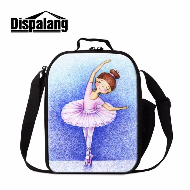 Dispalang Pesonalized Ballet Girls Lunch Bag Kids Small Cooler Bag Insulated Lunch Conatiner for Children HandBag Lunch Box Bag
