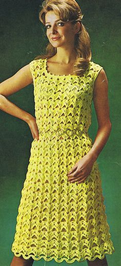 Instant Download VKNC78 Vintage retro Crochet Ladies Dress Pattern - $2.67