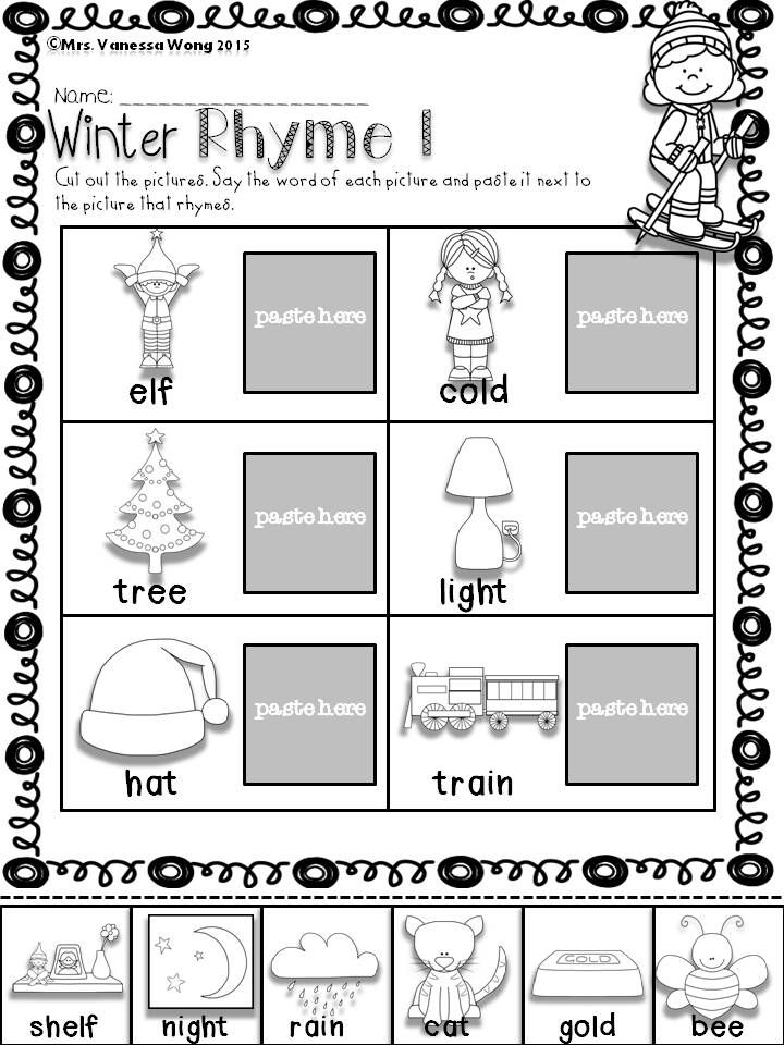 winter math and literacy worksheets and activities no prep kindergarten math literacy and. Black Bedroom Furniture Sets. Home Design Ideas