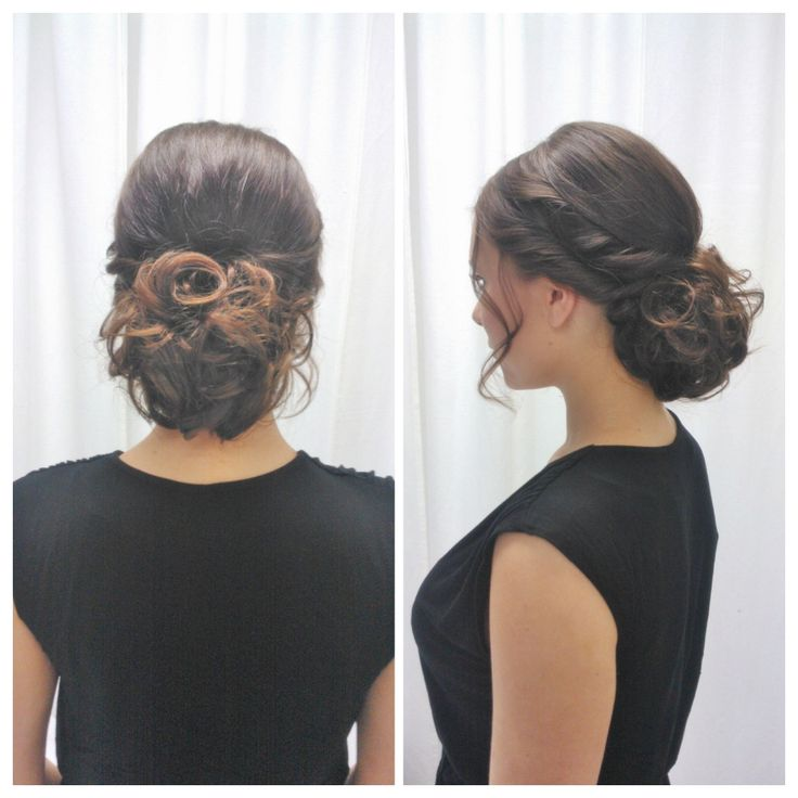 Curly bun for long hair by Parturi-kampaamo Salon Maria/Emmi