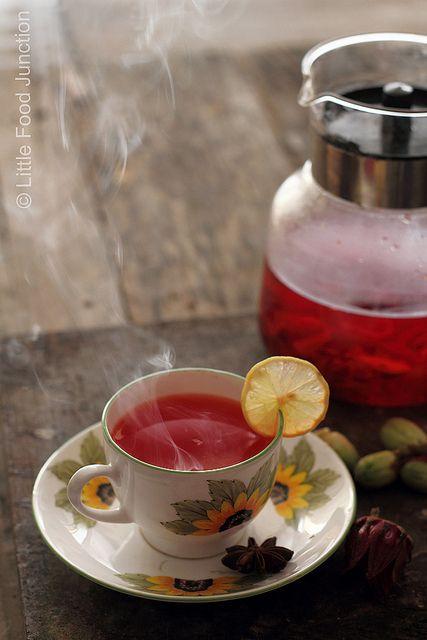 Hibiscus tea...make hot or cold tea recipe http://www.pinterest.com/emmagangbar/boards/