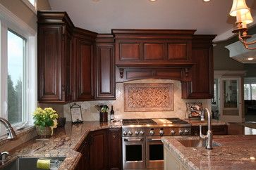 Bordeaux granite and cherry cabinets on pinterest for Cherry bordeaux kitchen cabinets