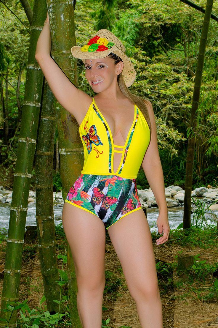 TULIPAN 8 Vestido de baño 1 piezas Trikini en panty, brasilera