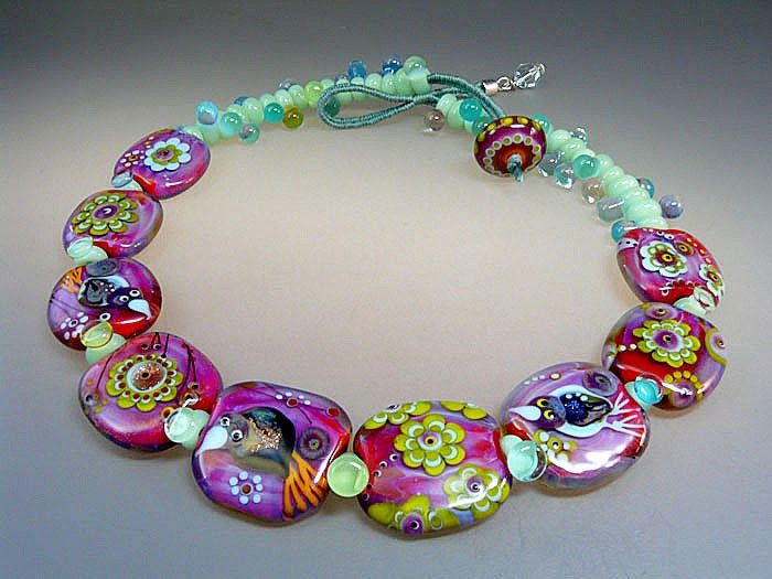 pura vida handmade lampwork glass bead by