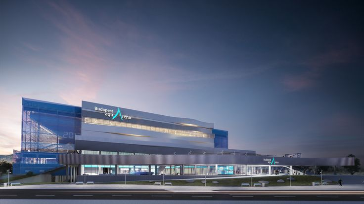 Dagaly, Swimming Complex, FINA World Aquatics Championships, Budapest, Design by NAPUR Architect, Rendering: AXION visual. Follow us on facebook: https://www.facebook.com/axionvisual Follow us on twitter: https://twitter.com/axionvisual