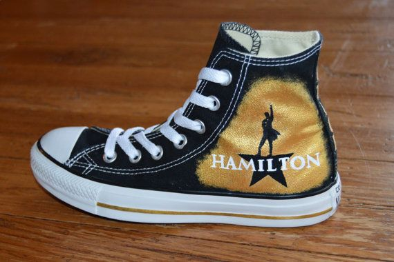 Hamilton Broadway Hand-Painted Custom by CustomKicksTaraMarie
