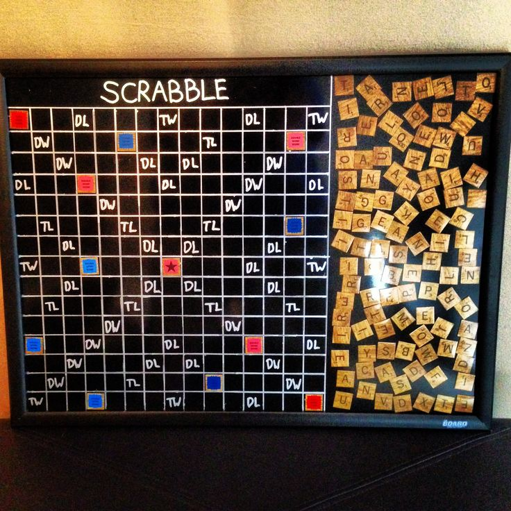 Homemade Magnetic Scrabble Board For The Wall For The