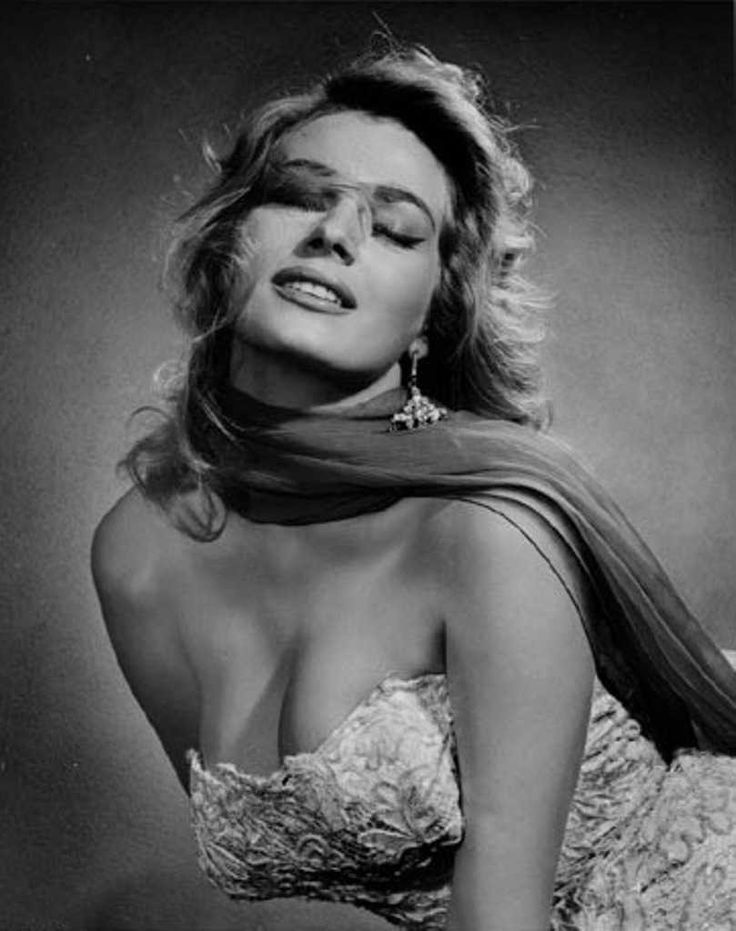 Anita Ekberg (1931-2015) - Swedish actress, model, and sex symbol. Photo by…