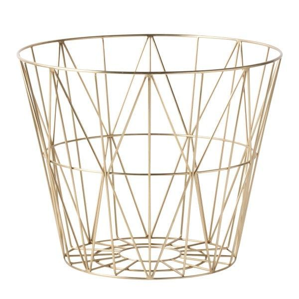Wire Basket Brass opbergmand large | Ferm Living