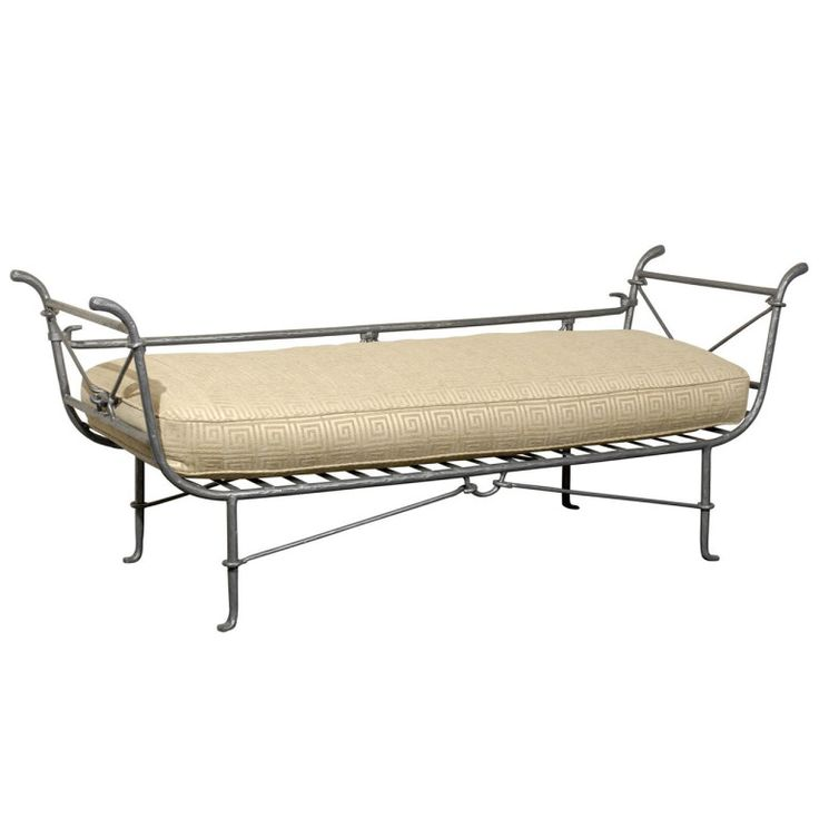 An Iron Daybed | From a unique collection of antique and modern day beds at http://www.1stdibs.com/furniture/seating/day-beds/