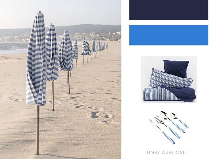 Arredare in stile Coastal: mille righe in bianco e blu | Una Casa Così