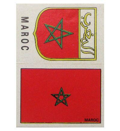 Panini Mexico 70 Wappen + Flagge Marokko