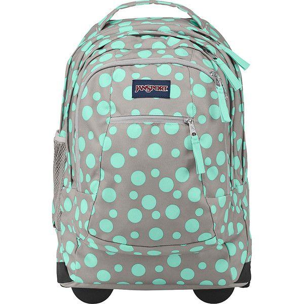 JanSport Driver 8 Rolling Backpack ($93) ❤ liked on Polyvore featuring bags, backpacks, grey, wheeled backpacks, shoulder strap backpack, roll up bag, jansport backpack, handle bag and convertible backpack