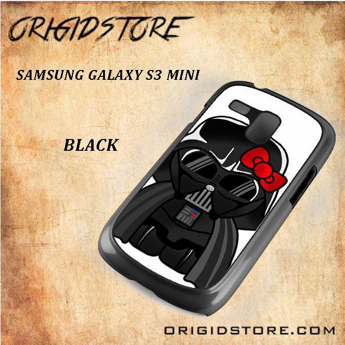 Anakin Skywalker Darth Vader Hello Kitty Star Wars Black White Snap On 3D For Samsung Galaxy S3 Mini Case
