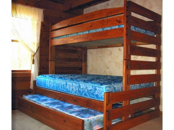 Sturdy Solid Wood Twin / Full Bunk Bed With Trundle. Available In Various  Sizes.