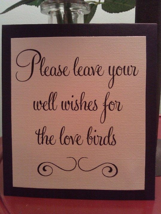 Please leave your well wishes for the love birds - Guestbook sign. $4.00, via Etsy.