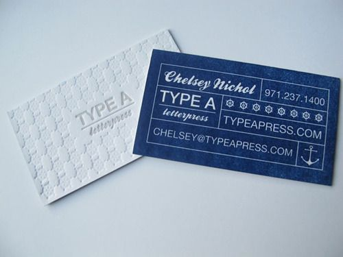 Type A Press Business Card