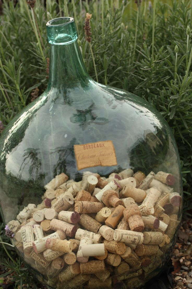 French Wine Jug  (Haha!!! This is EXACTLY what I'm going to do!) and it'll sit on our fireplace hearth!