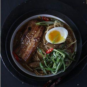Pork belly and shiitake ramen