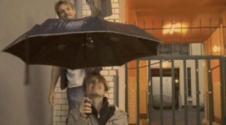 Musical umbrella delivers 8-bit tones.  The music nerd in me loves this!