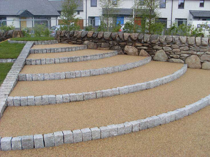 Lovely natural resin bound gravel steps