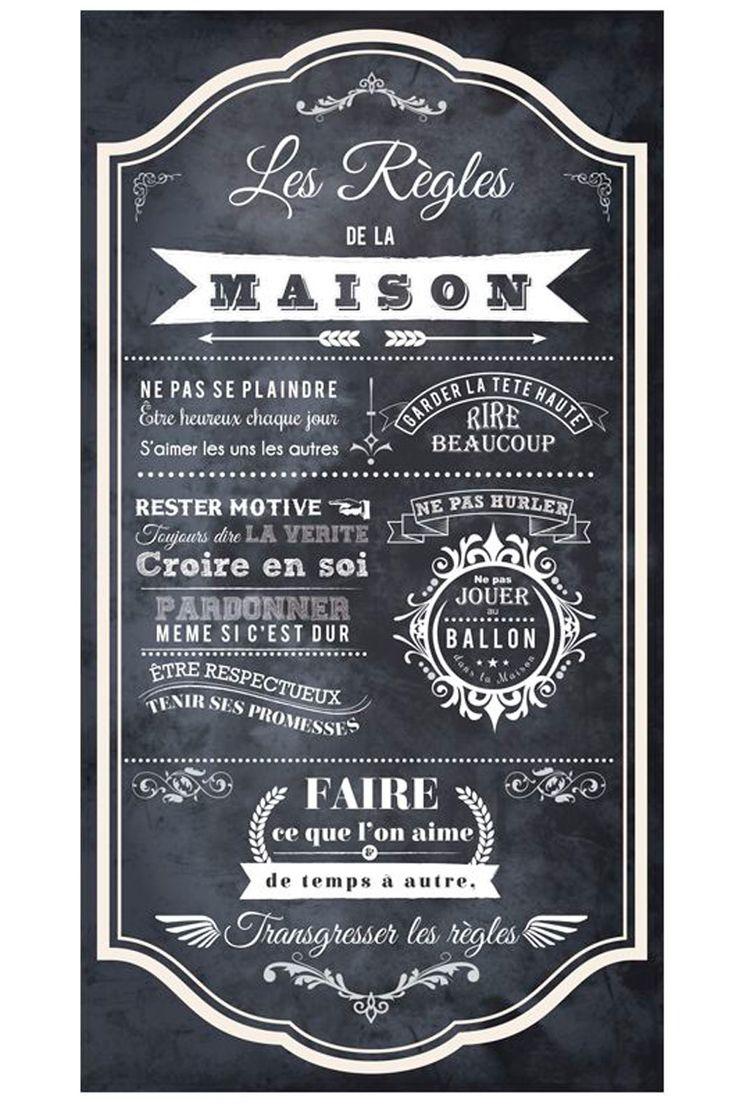 25 unique chalk quotes ideas on pinterest chalkboard quotes chalkboard wall art and chalk - Cadre les regles de la maison ...