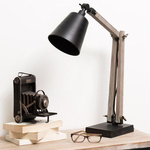 Lampe Indus EDISON. Maison du monde.  Pourquoi pas sur ta table de chevet ! ( Le jour où nous serons riche !)  79€90. Dimensions (cm) : H 75 x L 48 x PR 18  Ampoule E-14