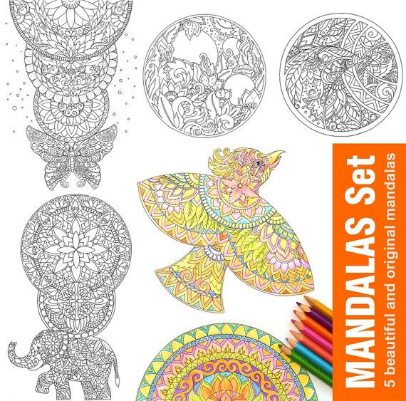 Printable Coloring Pages For Relaxation 47 Best Elephant Rhino Giraffe Lion Images On