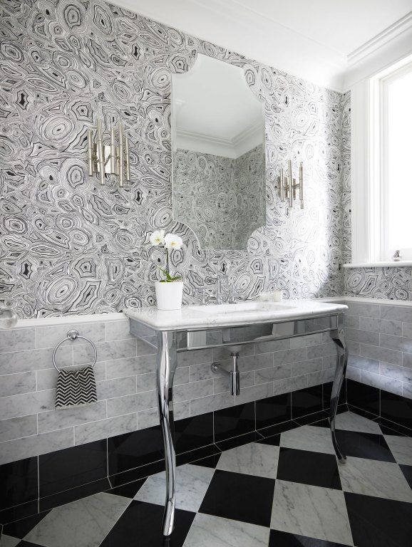 Malachite Wallpaper In White And Black By Fornasetti For