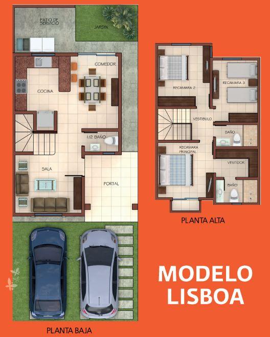 Mejores 154 im genes de planos de casas en pinterest for Villas pequenas