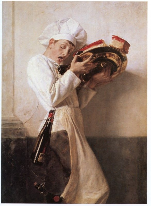 Gizis. The confectioner,1898 .                           Γύζης.Ο Ζαχαροπλάστης, 1898. Λάδι σε μουσαμά.