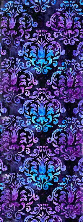 Damask Pattern ~ Aqua and Purple