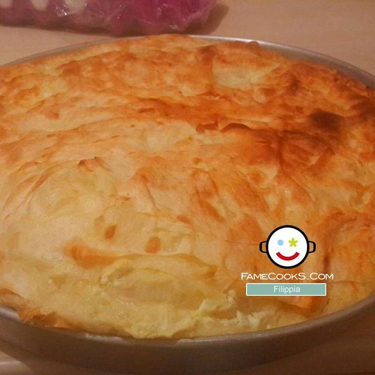 Συνταγή: Αλμυρή πατσαβουρόπιτα με τυριά και μπέικον! Απο την κουζίνα του χρήστη Anastasia R στο #famecooks