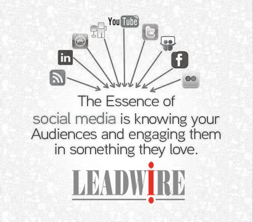 Engage your customers and target audience with something interesting and appealing through social media.