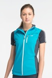 The lightweight Gust Vest from our Technical Outer Layers range, comprises a merino inner for next-to-skin comfort, a polyurethane middle layer to protect against the wind, and a polyester outer layer to ward off the rain. Designed for running or cycling, the robust Gust soft shell also offers an interior pocket with a cord hole for your MP3 player, gusseted side panels for freedom of movement, and an adjustable drop tail hem for extra protection.