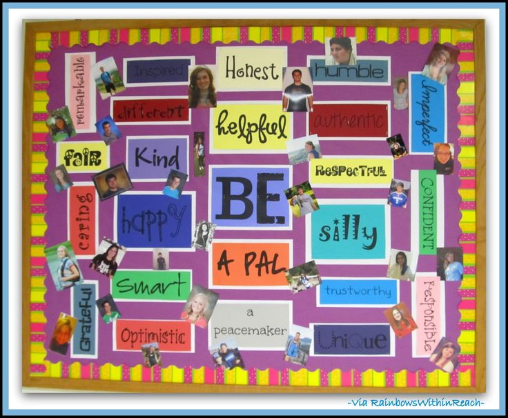 Teens always need to be reminded.......Cool High School Bulletin Boards | Bulletin Board for Character Development via RainbowsWithinReach
