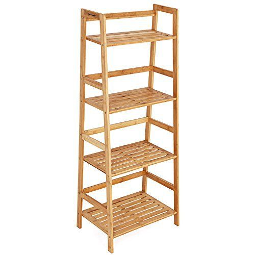 Bamboo Trends Bamboo furniture nowadays gets favored by more and more families since it better fits in with our healthy life concept, and comes better in durability and affordability compared with traditional wooden ones or post-modern industrial metal ones. The natural finish and pattern from... more details available at https://furniture.bestselleroutlets.com/accent-furniture/ladder-shelves/product-review-for-songmics-bamboo-ladder-bookcase-4-shelf-natural-ulbr04y/