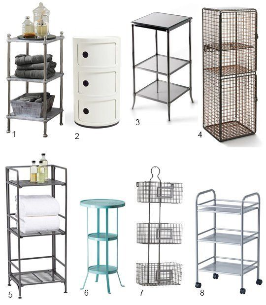 High low 3 tier bathroom storage small space solutions for Storage solutions for small bathrooms