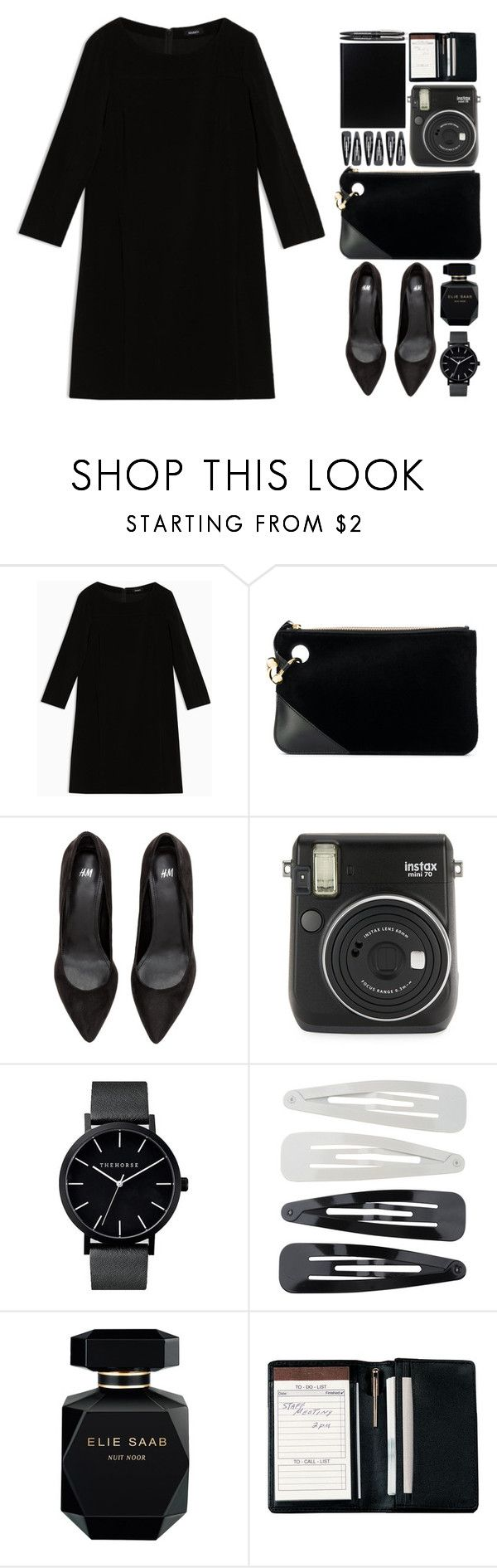 """""""Mission Monochrome: All-Black Outfit"""" by lisannes1 ❤ liked on Polyvore featuring Max&Co., J.W. Anderson, Fuji, Forever 21, Elie Saab, Royce Leather, polyvorecontest, allblackoutfit and polyvorefashion"""