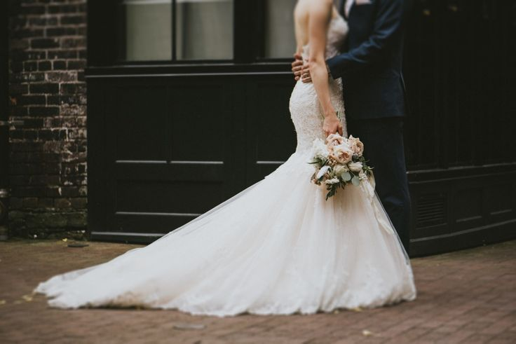 The train on Maggie Sottero's Marianne gown... <3 Photography by Sara Rogers.
