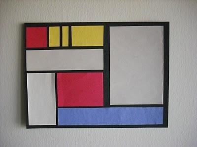 Piet Mondrian Art Work Primary Colors