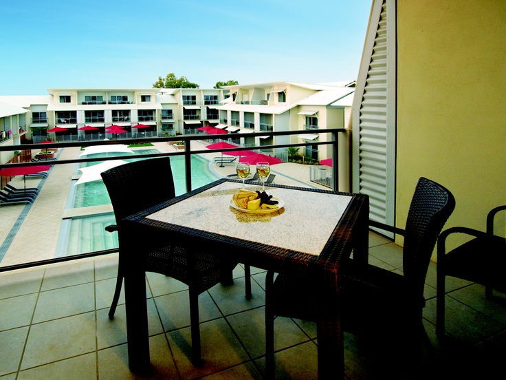 Oaks Broome - Balcony pool view