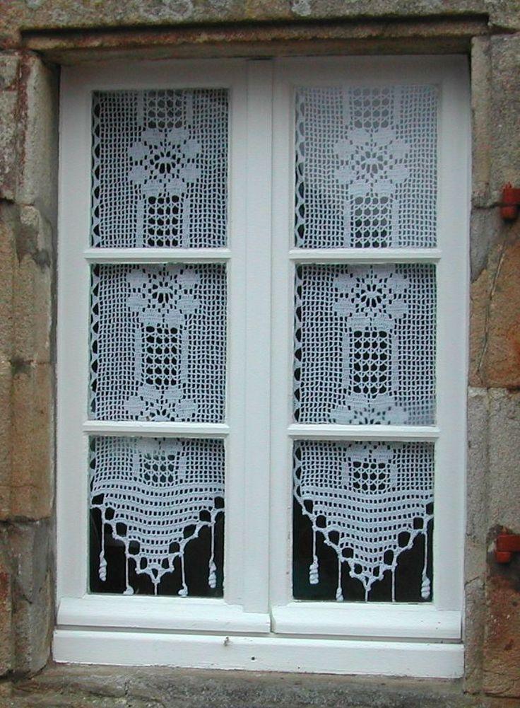 les 95 meilleures images propos de rideau crochet sur pinterest bordures au crochet. Black Bedroom Furniture Sets. Home Design Ideas