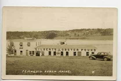 Pemaquid Beach ME Lobster Pound Old Car RPPC Postcard