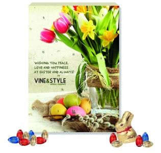 Promotional Luxury Lindt Easter Calendar containing 26 Lindt chocolate eggs