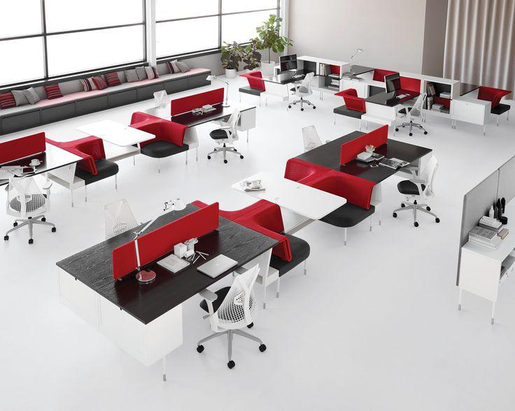 Büro Design, Designateliers, Arbeitsplatzgestaltung, Arbeitsbereiche,  Öffentliche Bereiche, Offener Plan, Landschaftsdesign, Open Office, Herman  Miller