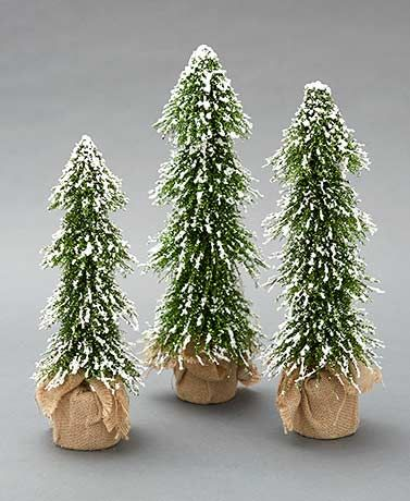 Sets Of 3 Decorative Country Christmas Trees